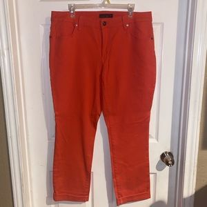 16W Faded Glory Coral Pants